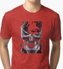Alien Skull X-ray Tri-blend T-Shirt