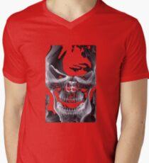 Alien Skull X-ray Men's V-Neck T-Shirt