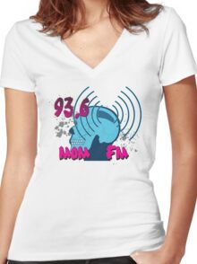 Radio Stations on Pete and Pete Women's Fitted V-Neck T-Shirt