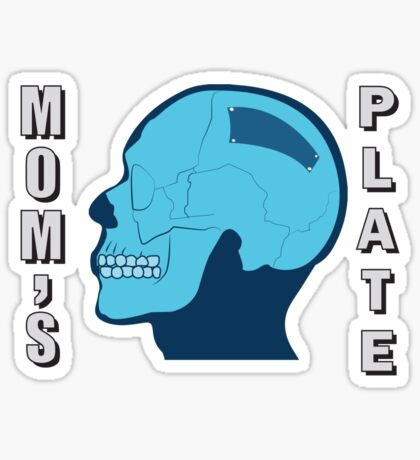 Moms plate from pete and pete Sticker