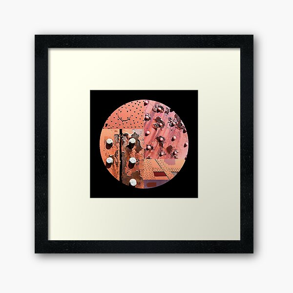 Rusty Circle (Black Background) Framed Art Print