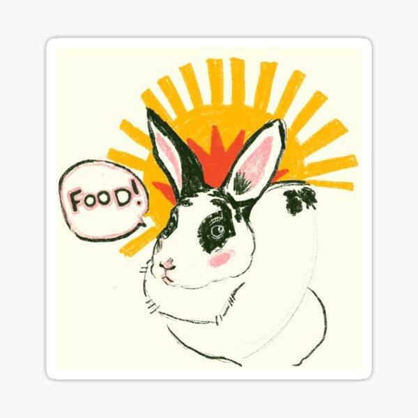 Hungry Bun Sticker