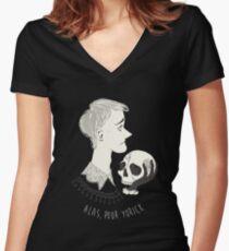 Shakespearean pattern - Hamlet Women's Fitted V-Neck T-Shirt