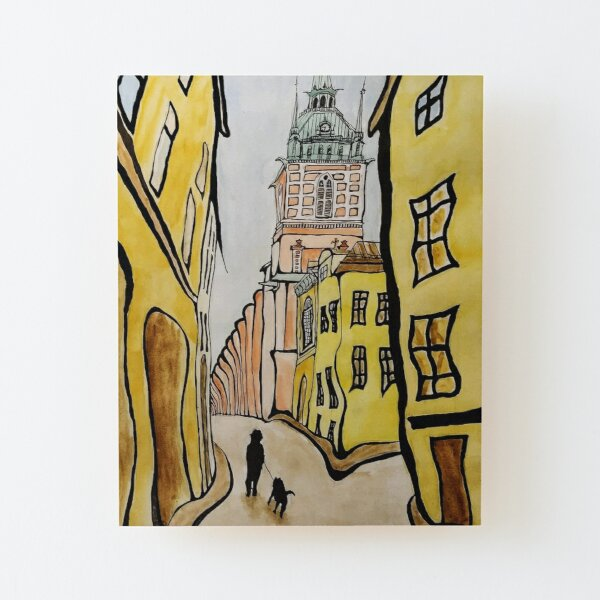 Stockholm Old Town  Wood Mounted Print