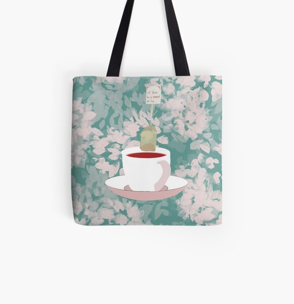 A moment for Tea All Over Print Tote Bag