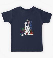 Hookah Smoking Rabbit Kids Tee