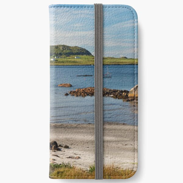 IONA viewed from Fionnphort Isle of Mull Scotland iPhone Wallet