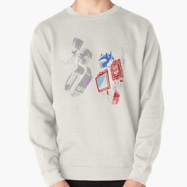 optimus prime megatron transformers full color Pullover Sweatshirt