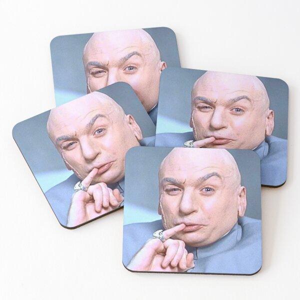 Dr Evil Coasters (Set of 4)
