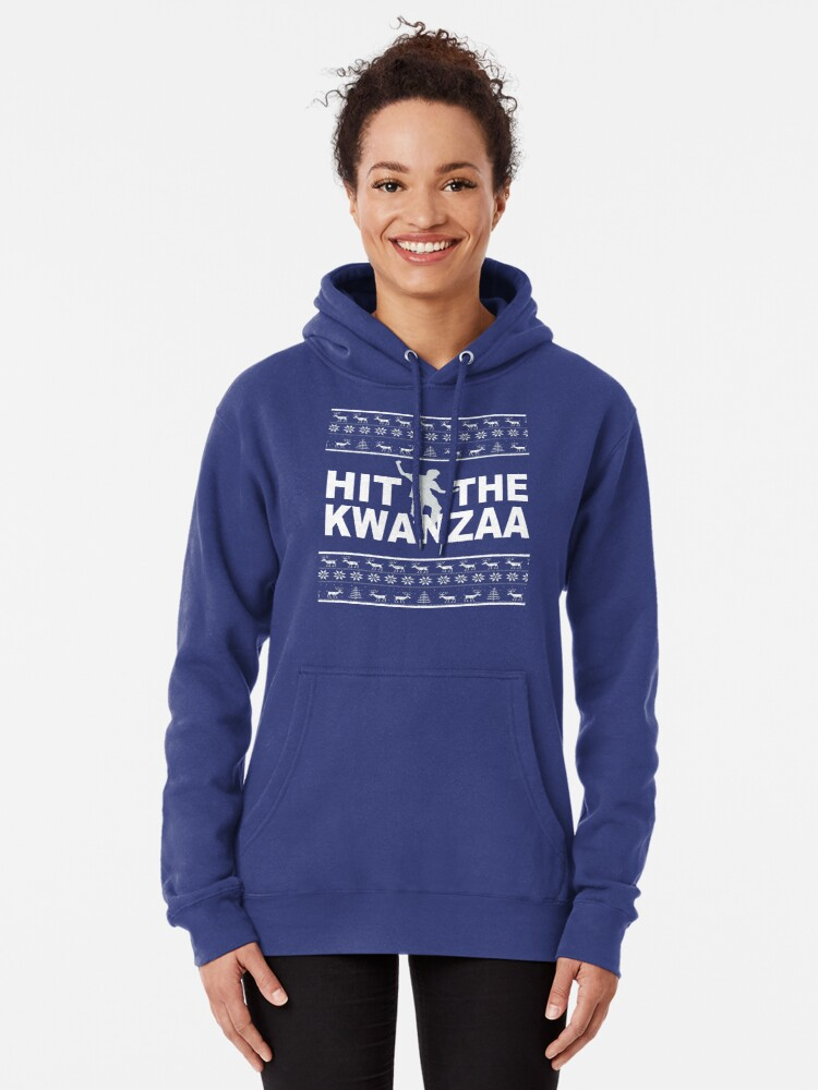 Alternate view of Hit The Kwanzaa Pullover Hoodie