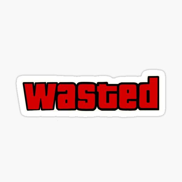 GTA gaspillé Sticker