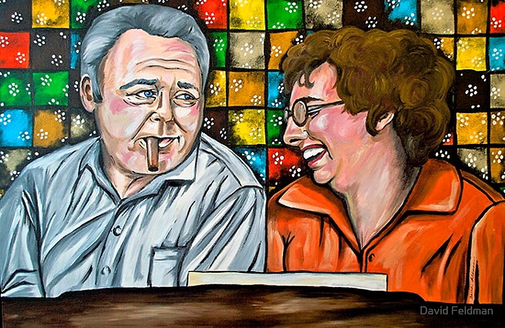 Archie and Edith Bunker  by portraitsonthep