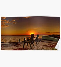 """""""At Day's End"""" - Avalon Beach Poster"""