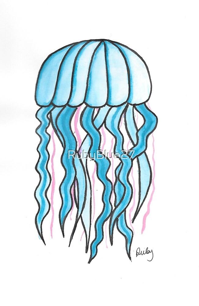 Blue Jellyfish by RubyBlue27
