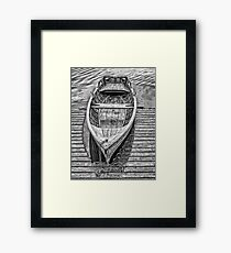 Wooden boat Framed Print