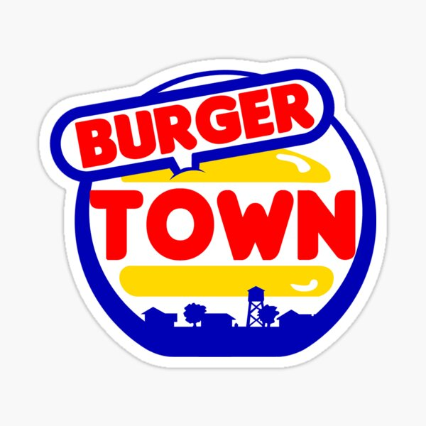 Burger Town Sticker
