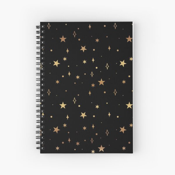 Space Pattern (gold/black) Spiral Notebook