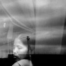 Woman on a Bus by David Mellor