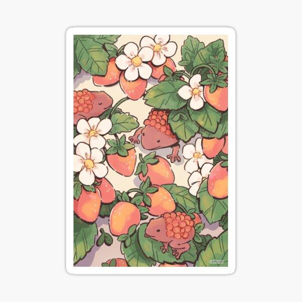 Strawberry frogs garden Sticker