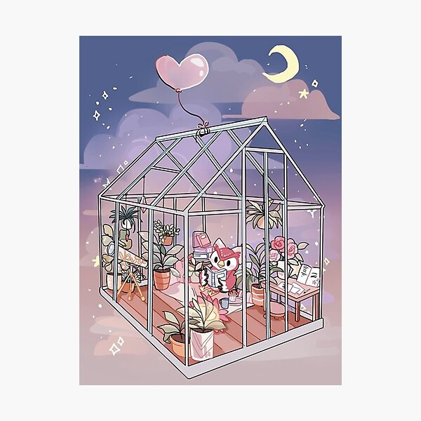 Celeste à la maison - oeuvre inspirée de Animal Crossing Impression photo