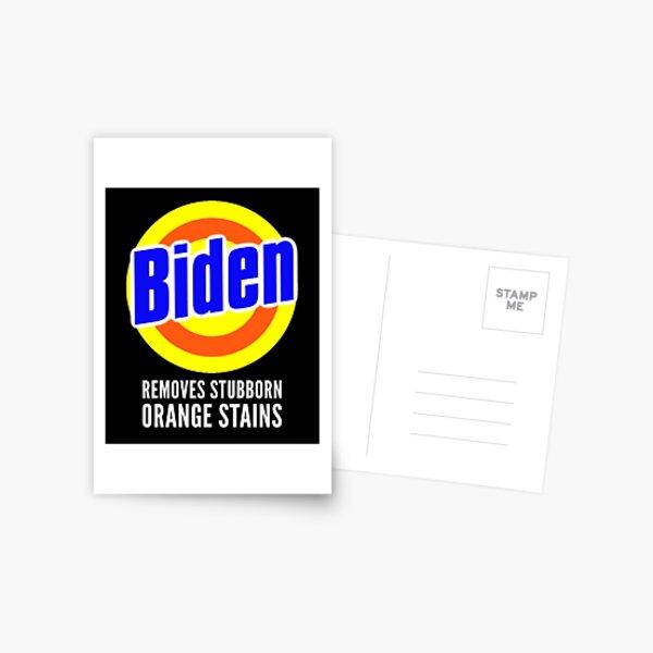 Detergente Anti-Trump Biden Elimina las manchas anaranjadas rebeldes Postal