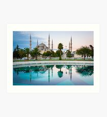 Blue Mosque Art Print