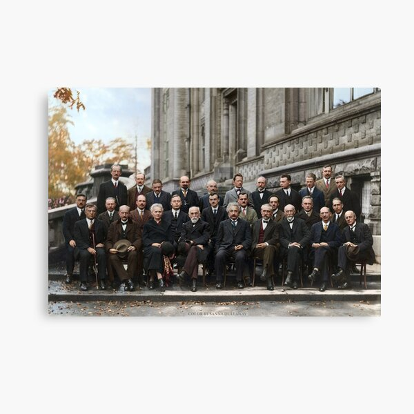 Solvay conference 1927 poster - without names Canvas Print
