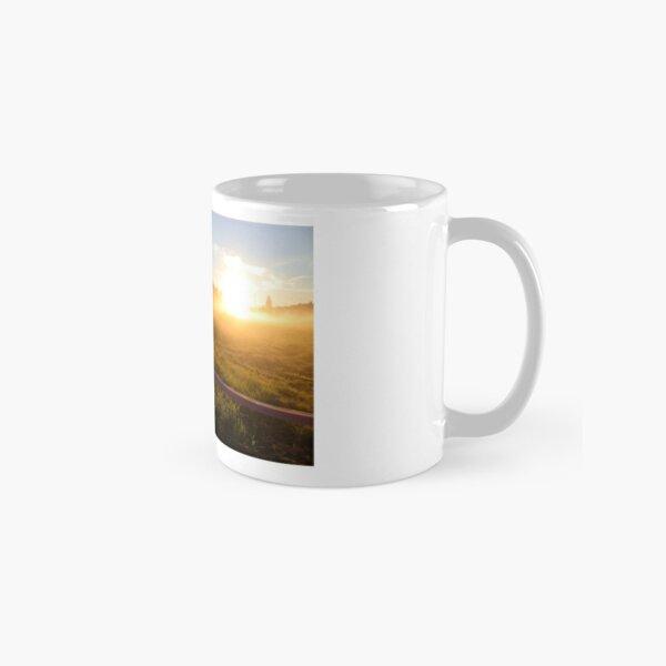 Sunset art misty field Classic Mug