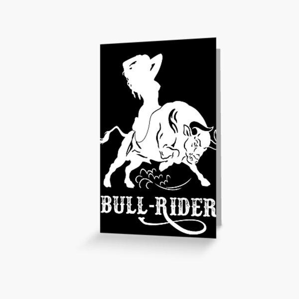 Bull Rider Hotwife Greeting Card