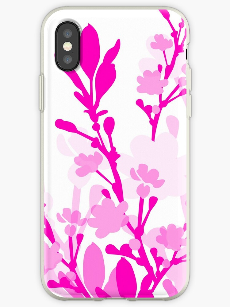 Pink white classy floral design by artisticattitud