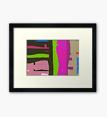 Bright coloured abstract. Framed Print