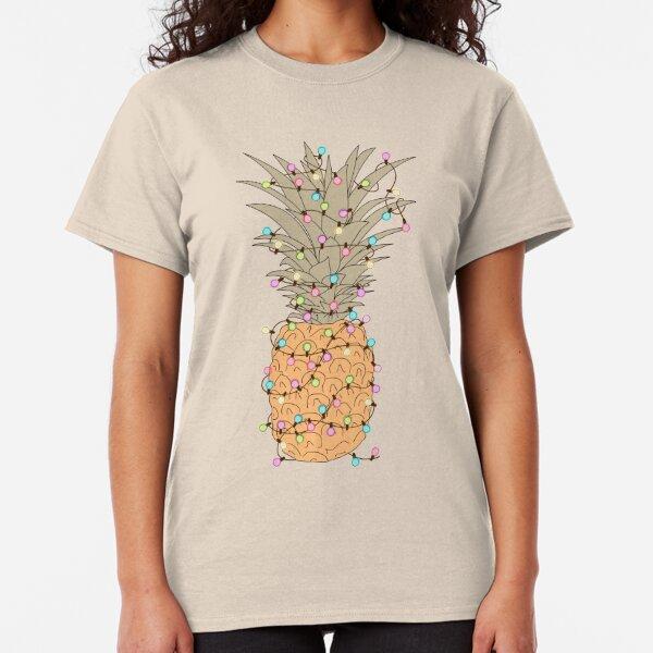 ALOHA Hawaii Floral Pineapple Tee Colourful Holiday Hula Tropical Hipster Tshirt