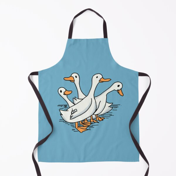 Duck Cute and Simple Doodle Apron