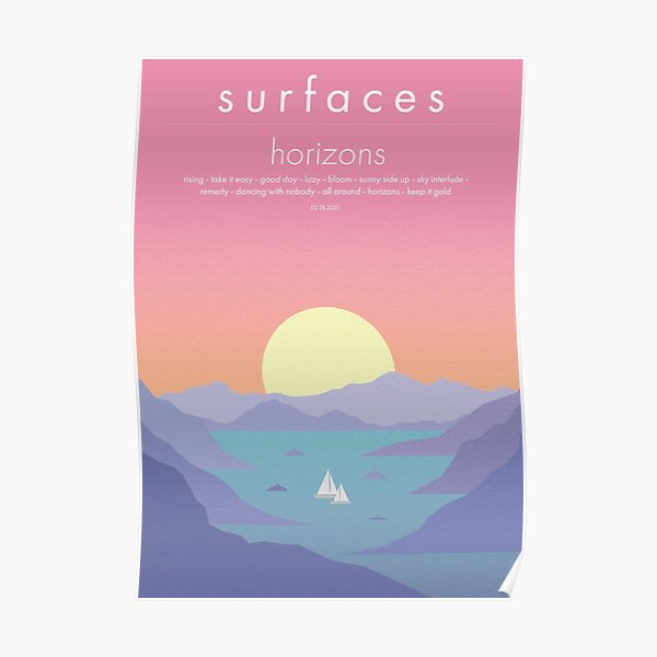 Surfaces Horizons Album Cover Poster