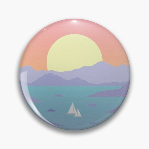 Surfaces Horizons Album Cover Pin