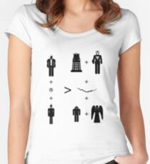 Doctor Who Maths - Trenzalore Edition, Clara Women's Fitted Scoop T-Shirt