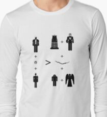 Doctor Who Maths - Trenzalore Edition, Clara Long Sleeve T-Shirt