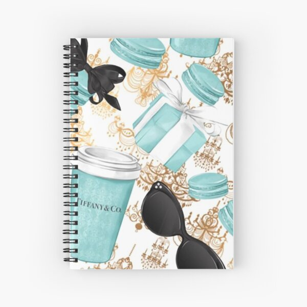 Tiffany Blue Diamond Spiral Notebook