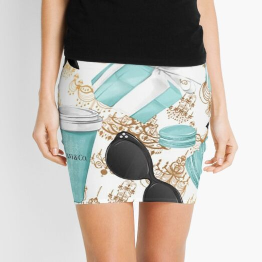 Tiffany Blue Diamond Mini Skirt