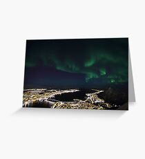 Tromsoe - City of Lights Greeting Card