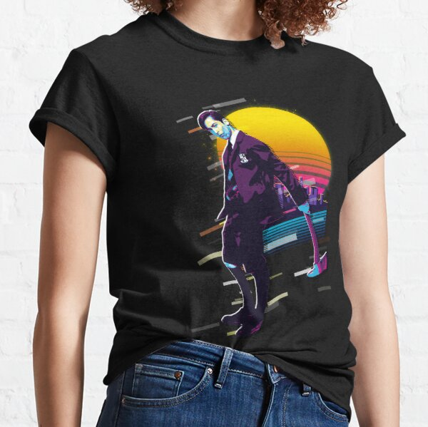 The Umbrella Academy número cinco en estilo retro Sunset de los 80 Camiseta clásica