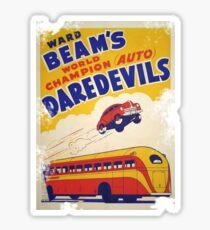 Dare devil Autos 1950 s poster t-shirt vintage Sticker