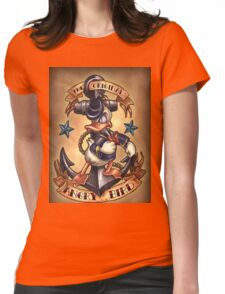 Donald duck  Womens Fitted T-Shirt