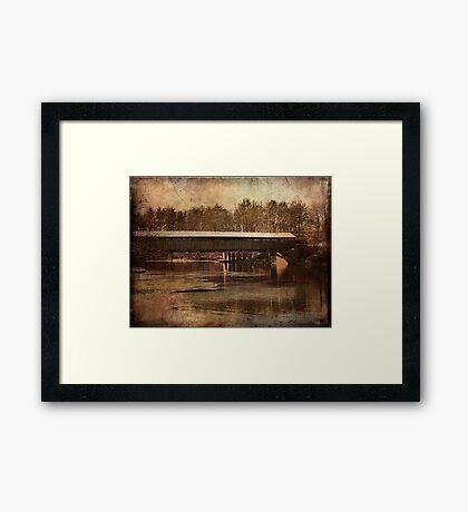 Perrines Covered Bridge 2 Framed Print