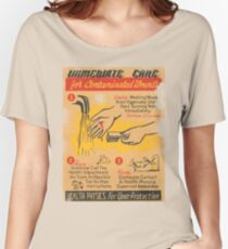 Radiation Warning poster 1950's Women's Relaxed Fit T-Shirt