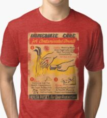 Radiation Warning poster 1950's Tri-blend T-Shirt