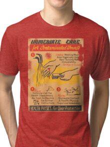 immediate care contaminated 1950's t-shirt Tri-blend T-Shirt