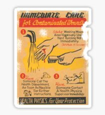 immediate care contaminated 1950's t-shirt Sticker