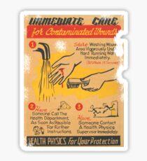 immediate care contaminated 1950's t-shirt Sticker