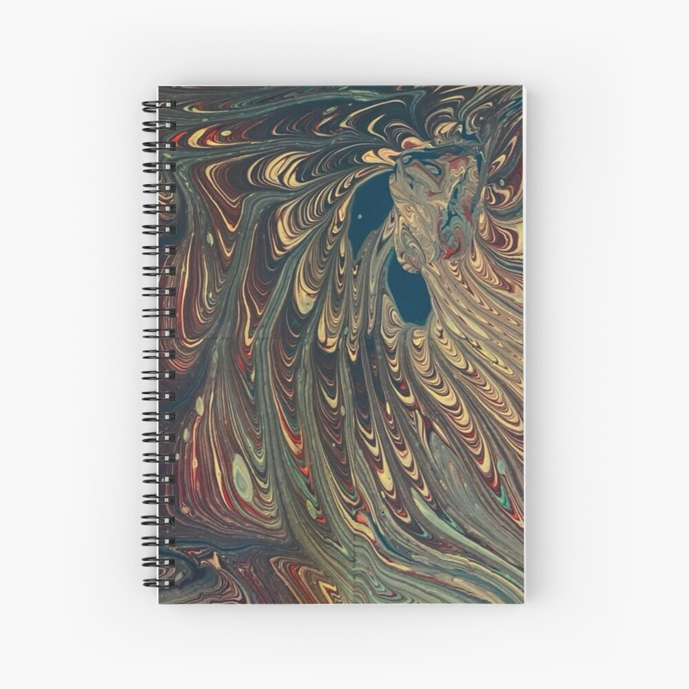 Original pour painting Spiral Notebook